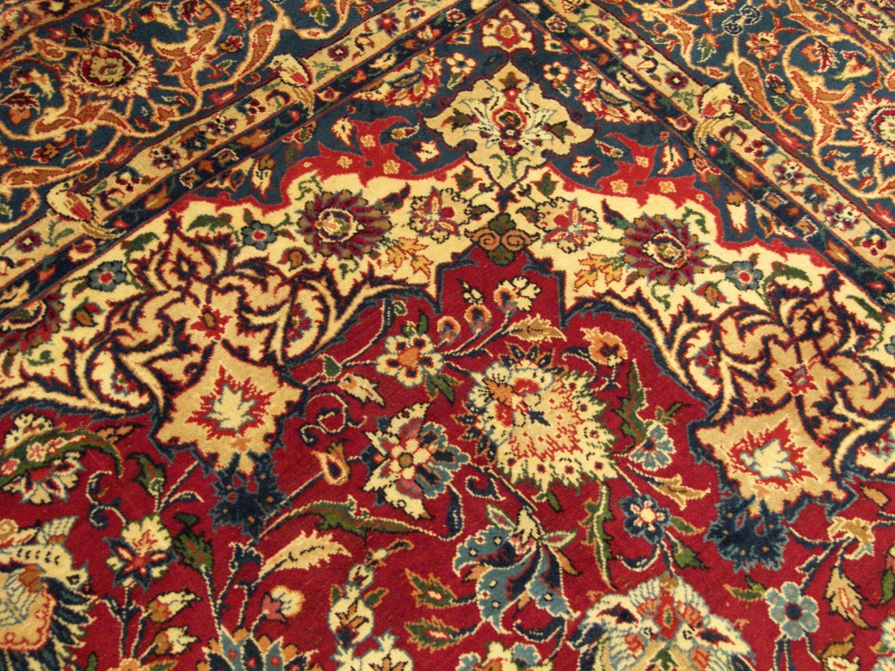 Handmade Antique Persian Isfahan Rug Circa 1930s