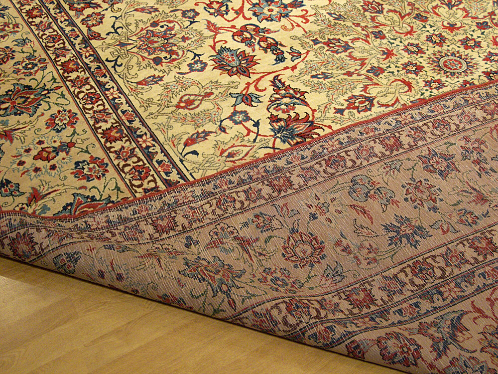10 X 12 Handmade Hand Knotted Antique Persian Isfahan Wool