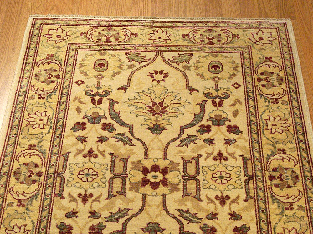 3x4 Vegetable Dye Hand Woven Sultanabad Rug 1600