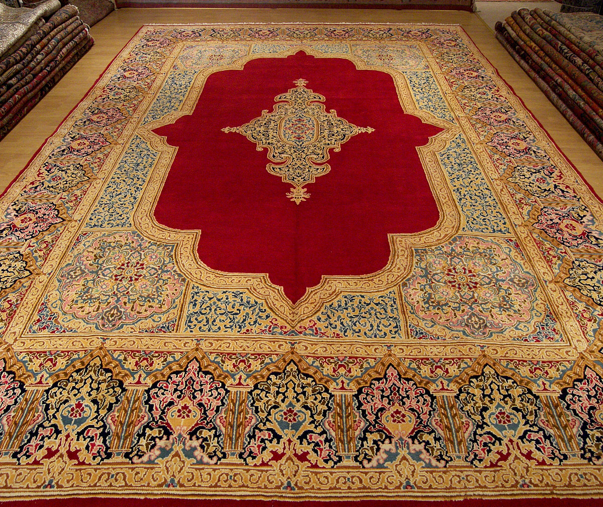10x14 Handmade Antique Persian Lavar Kerman Rug 1883