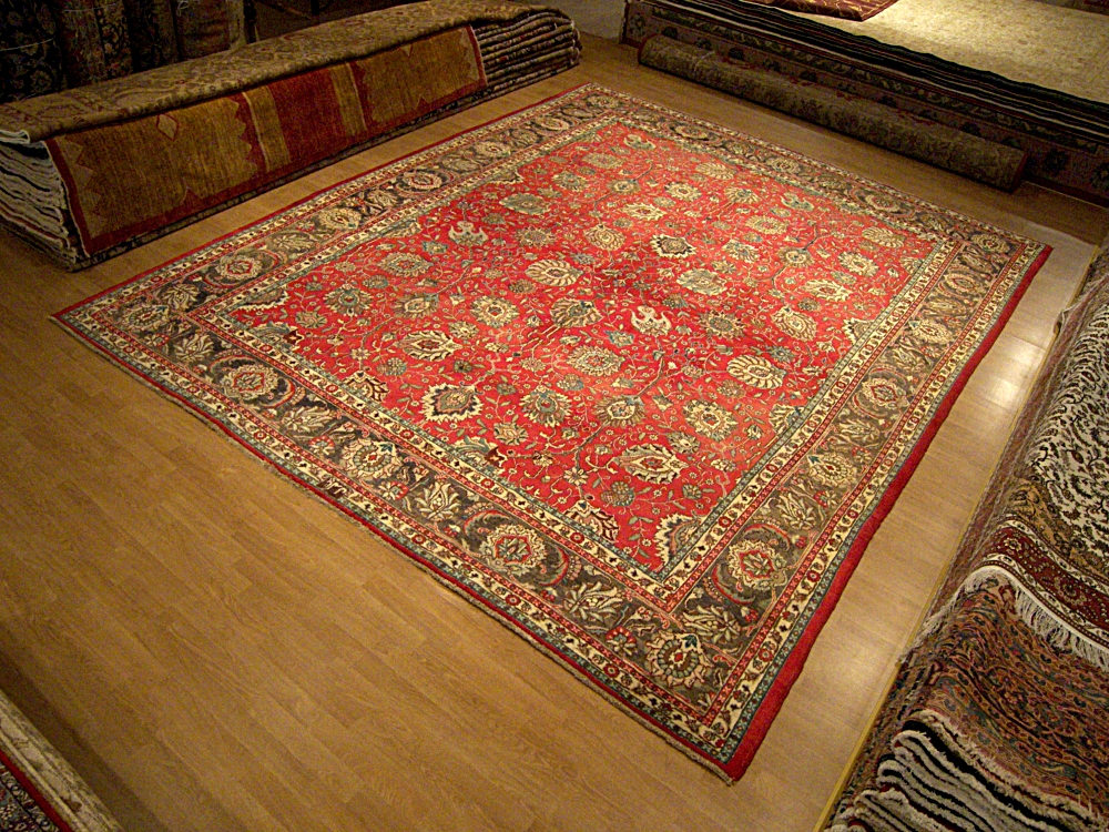 10 x 12 9 handmade rug signed persian tabriz heriz wool for Warm rugs