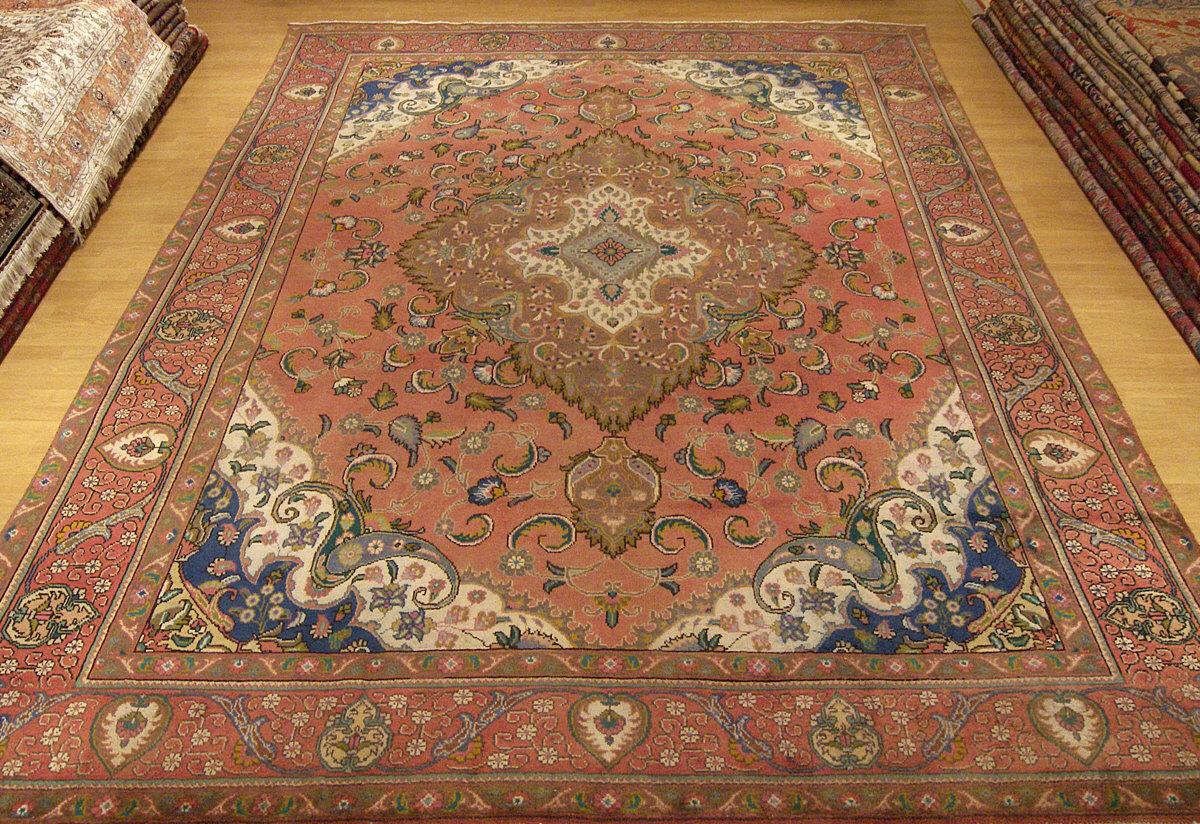 9x12 Handmade Antique Rug Persian Tabriz Serapi Heriz