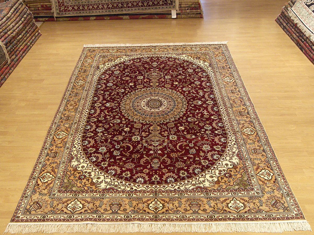 6x9 hand made persian silk rug