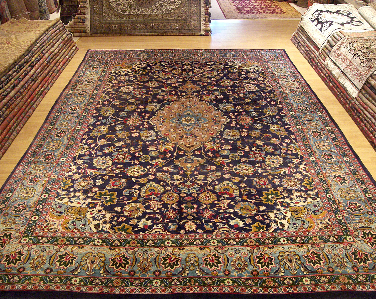 10x13 Beautiful Hand Made Signed Persian Ghoom Rug