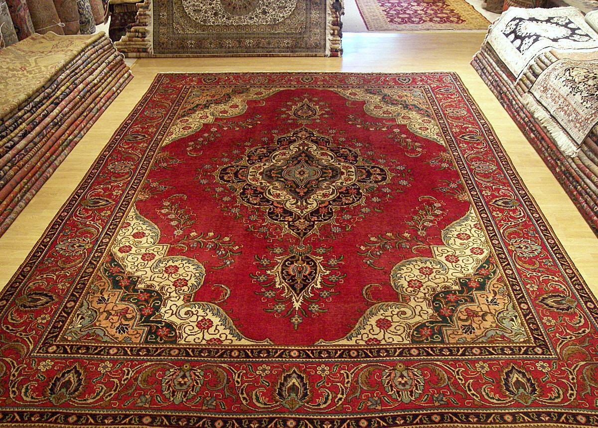 10x13 Beautiful Hand Woven Antique Persian Tabriz Serapi