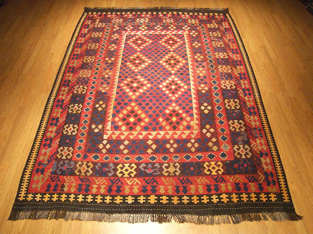 7x10 Handmade Afghan Vegetable Dye Wool Uzbek Kilim Rug Ebay