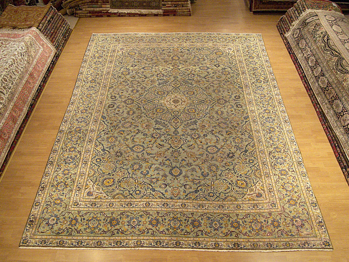 Genuine Hand Woven Antique Persian Royal Kashan Rug